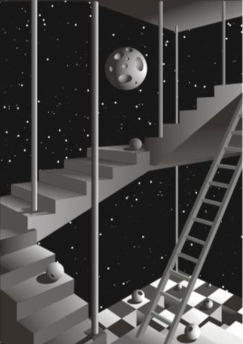Moonlight staircase construction - Kenneth-Edward Swinscoe - Kenneth-Edward Swinscoe